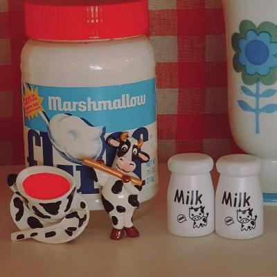 냉장고자석 얼룩소의 카페라떼 마그넷 시리즈