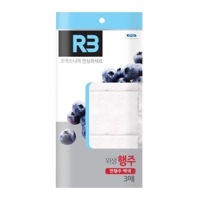 R3 위생 면행주 백색3매 행주 레이온행주 면행주