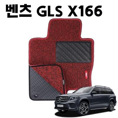 벤츠 GLS 이중 코일 차량용 차 발 깔판 매트 Red