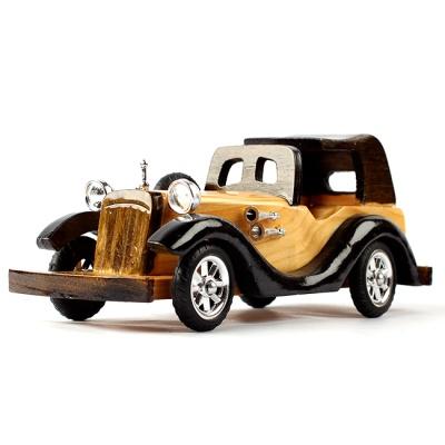 25cm 앤틱 원목 모형자동차