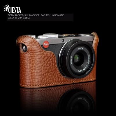 씨에스타 X1/X 2가죽케이스-브라운(라이카X1/X2 전용)핸드메이드