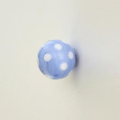 레진 가구손잡이/도어납(doorknob)-도트 라이트블루 1244