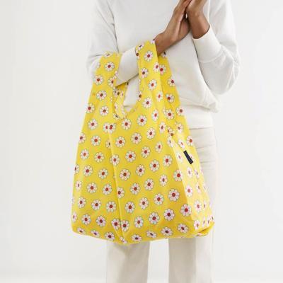 [바쿠백] 휴대용 장바구니 시장가방 Yellow Daisy