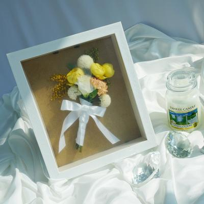 말린부케 액자 부케말리기 선물 말린꽃 플라워 보관