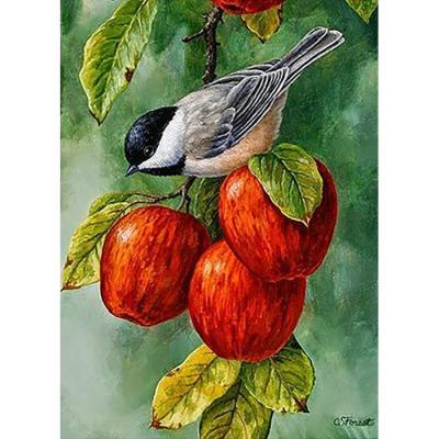복 주는 사과나무 (패브릭) 보석십자수 40x55