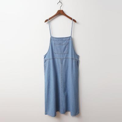 Accent Denim Cami Long Dress
