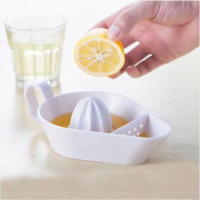 미니멀 화이트 레몬 오렌지 스퀴저 1개