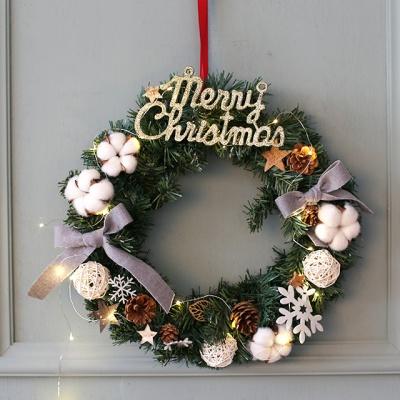 크리스마스 리스(대-전구포함)