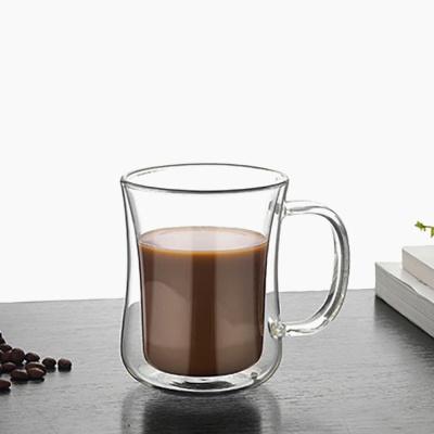 [로하티]벨르 이중유리컵 / 내열유리 홈카페 커피잔