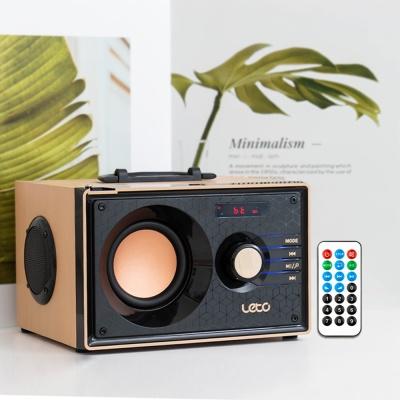 레트로 무선 블루투스스피커 LBT-W04S 우퍼 FM라디오
