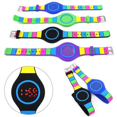 LED 실리콘 생활방수 스포츠 전자 밴드 젤리 손목시계