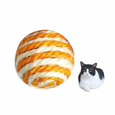 사이잘 롤리볼 고양이 장난감(색상랜덤 1P)