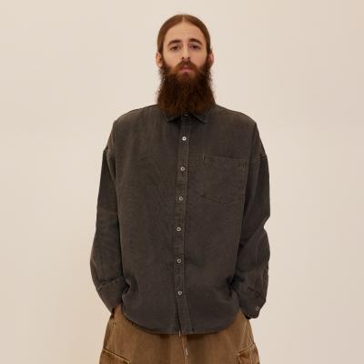 CB 아콘 피그먼트 셔츠자켓 (차콜)