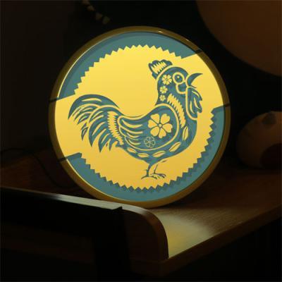no654-LED액자25R_복이들어오는금닭