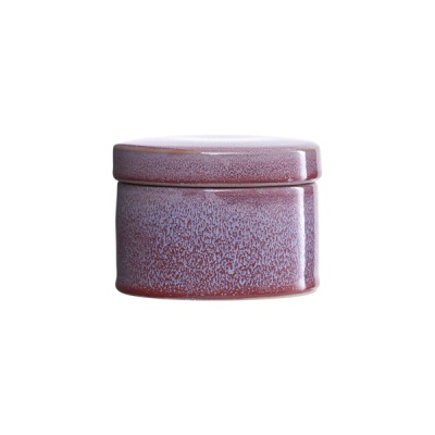 [House Doctor]Jar w lid Croz bordeaux/light blue dia 11 cm Ch0582 스토리지
