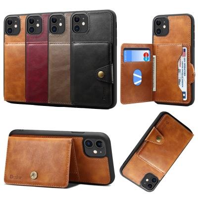아이폰11 프로 맥스 가죽 카드 지갑 거치대 폰케이스
