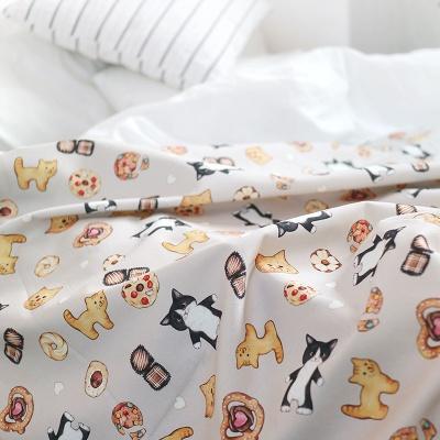 고양이삼촌 패턴 패브릭 - 죠스 (110X90cm)