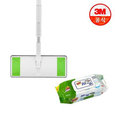 올터치 막대걸레 대형+베이직 더블액션 물걸레 청소포 대형 30매