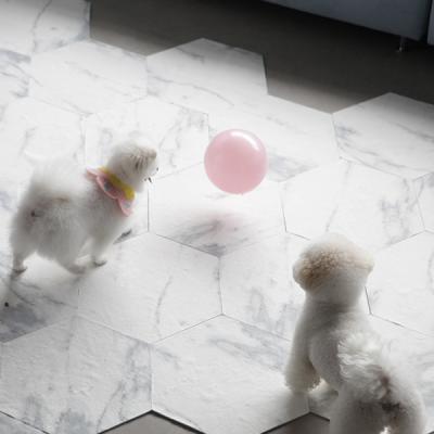 헥사곤 대리석 픽 모듈 미끄럼방지 강아지매트 10p