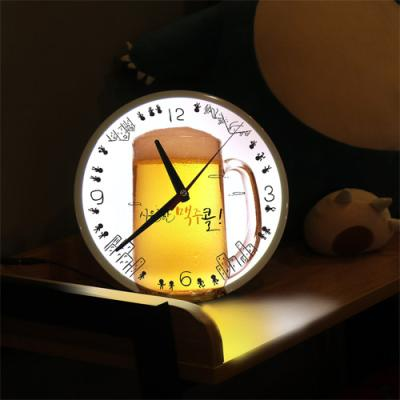nf119-LED시계액자25R_시원한맥주로달려