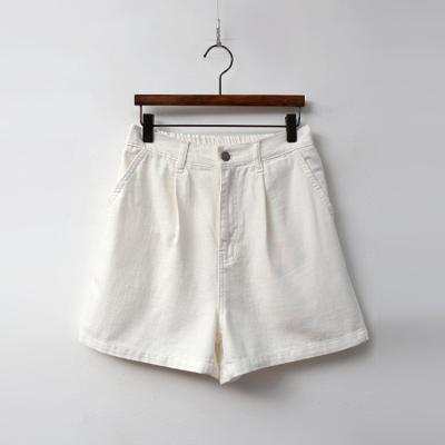 Cotton Pintuck Denim Shorts