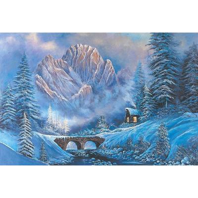 1000피스 직소퍼즐 - 겨울 산속 오두막