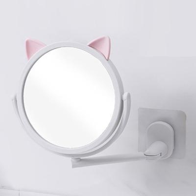 큐티레빗 원형 욕실형 붙이는 2단거울