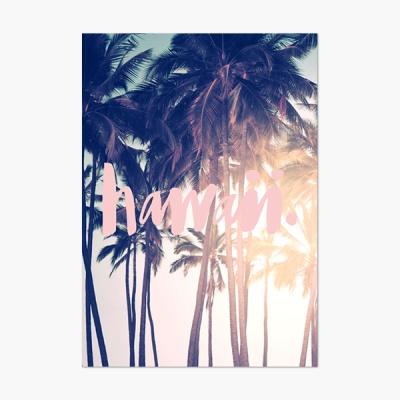 Hawaii 하와이 핑크텍스트 포스터 - A3 A4