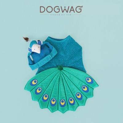 [도그웨그 DOGWAG] 공작새 강아지, 고양이 옷_특이한 강아지옷