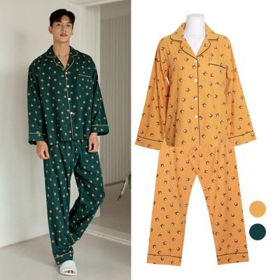[쿠비카]곰돌이 프린팅 카라넥 투피스 커플잠옷 WM367