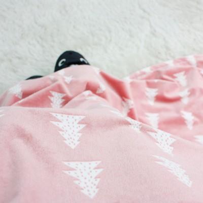 극세사 노르웨이숲 무릎담요 - 핑크