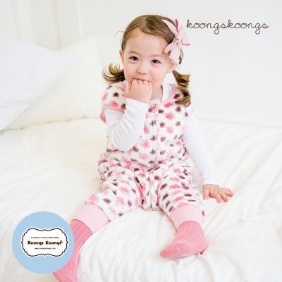 [극세사]구름방울(핑크)극세사수면조끼 유아수면조끼 아동수면조끼