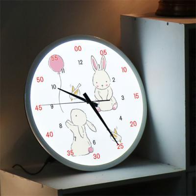 ng256-LED시계액자35R_귀여운동물원