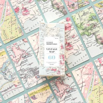 반달 북마크 - 09 빈티지 맵 60매 세트