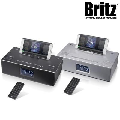 브리츠 블루투스 스피커 & 라디오 BZ-M4150 (AUX & MicroSD 입력 단자 / 시계 & 알람 & 타이머 / 스마트기기 충전 포트 / 거치대 탑재)