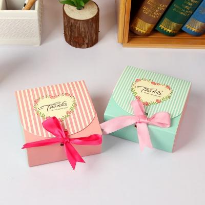 핑크 스트라이프 리본 선물상자 10p세트