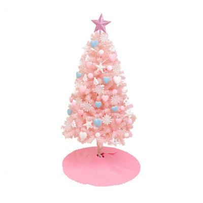 크리스마스 트리 세트 핑크 120cm