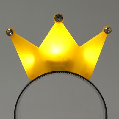 LED점등 왕관머리띠 (옐로우)