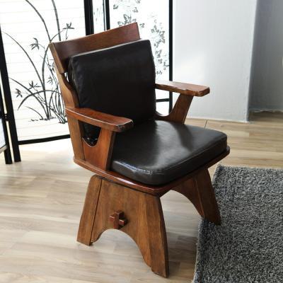 [모리프][무료배송]시나몬 회전원목의자
