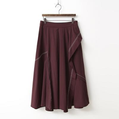 Stitch Flare Full Long Skirt