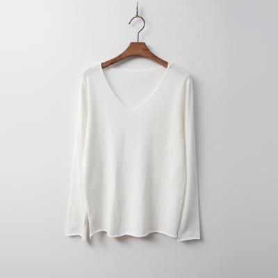Cotton V-Neck Knit