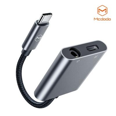맥도도 USB C to 3.5mm AUX+C타입 충전 듀얼 젠더