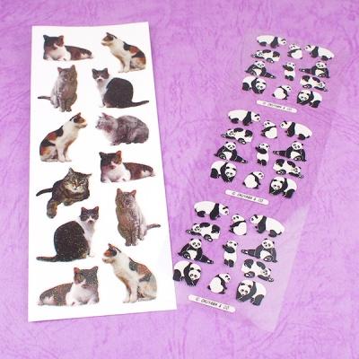 스티커펀 고양이 팬더곰 글리터 스티커(st166)