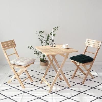 [벤트리] 원목 접이식 베이직 카페 테이블&의자 세트