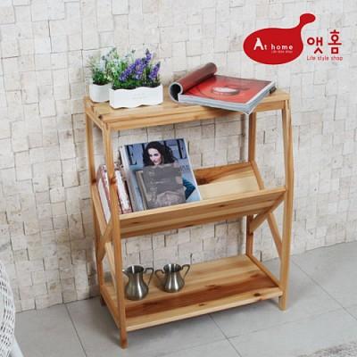 앳홈 원목 대형 사이드 테이블/매거진 테이블