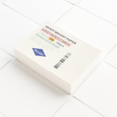 그리드 인덱스카드 화이트 100매 - 5x7