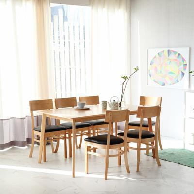 [리비니아]까밀로 민트 6인 식탁세트(의자형)