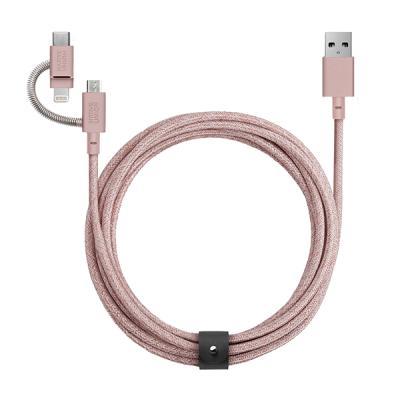 네이티브유니온 케이블 3in1 로즈핑크 2M