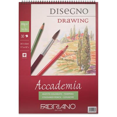 아카데미아 스케치북 AP02 [스프링형](A4)-200g
