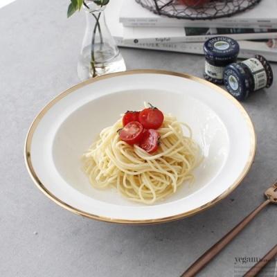 [2HOT] 골드라인 파스타 접시 골드 24cm